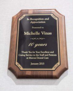 Dental Award 10 years of service